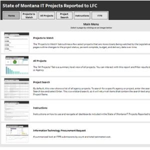 State of Montana IT Projects Reported to LFC